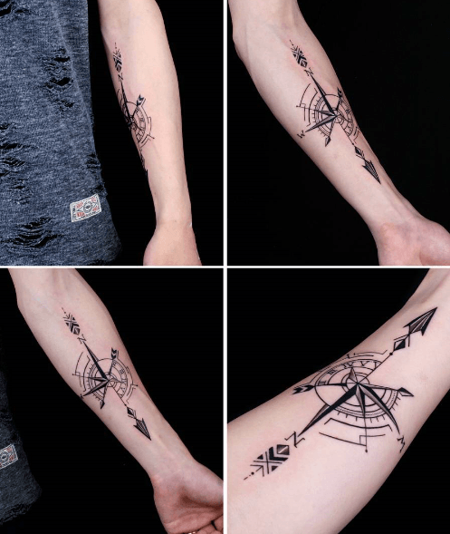 Tatouage Boussole Avant Bras Tattoo Tattoos Compass Tattoo Et