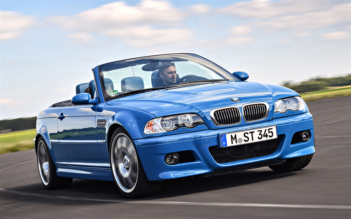 Download Wallpapers Bmw M3 Convertible E46 4k Road Cabriolets Blue Bmw M3 Bmw Besthqwallpapers Com Bmw M3 Convertible Bmw Bmw M3