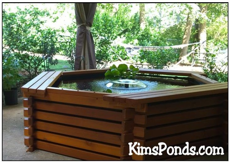 Kris Loves Her 300 Gallon Pond Kit On Her Patio Looks Beautiful There She Is Going To Be Keeping Koi And Plants I Pond Kits Ponds Backyard Water Gardens Pond