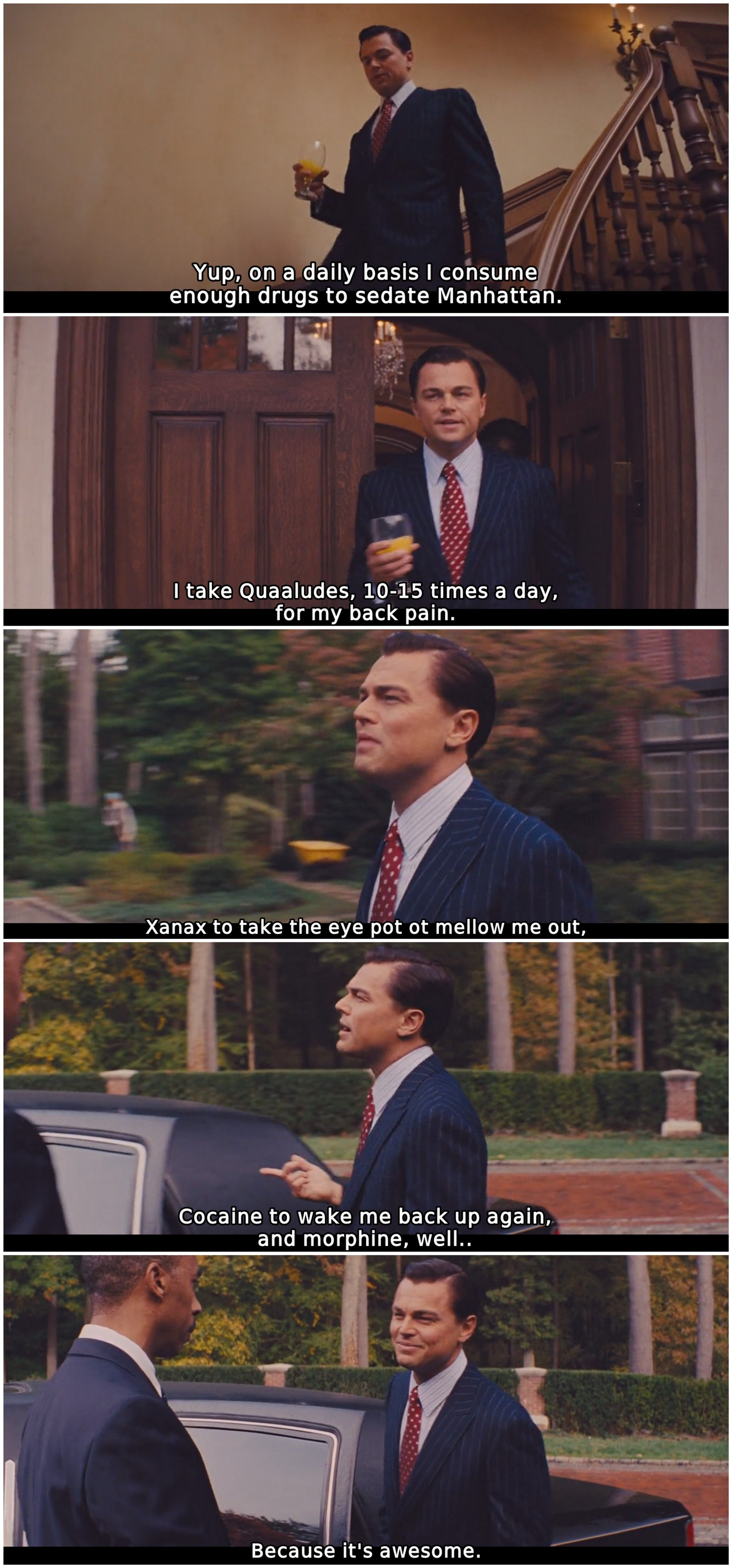 A wall street farkasa letoltes - The Wolf Of Wall Street 2013 Leonardo Dicaprio List Drugs He Takes On