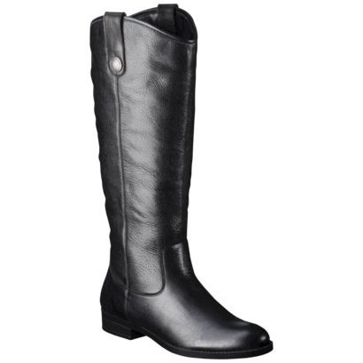 Women's Merona® Kasia Genuine Leather Riding Boot - Assorted Colors i  actually really like these riding boots from target, bit more expensive  than i'd ...