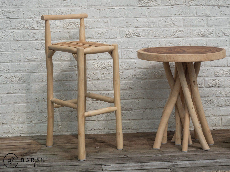 Table Basse Terrarium A Vendre tabouret de bar en branches de teck - bois flotté en 2020