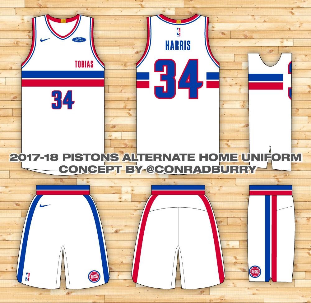 Https Www Behance Net Gallery 67537723 Detroit Pistons Uniform Concepts V1 Detroit Pistons Pistons Uniform