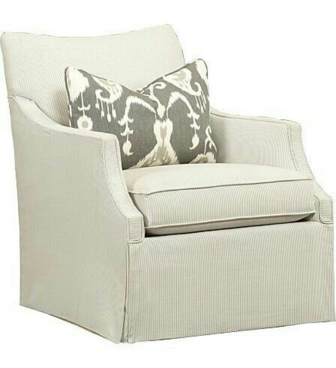 Haverty Swivel Chair In Neutral Color.