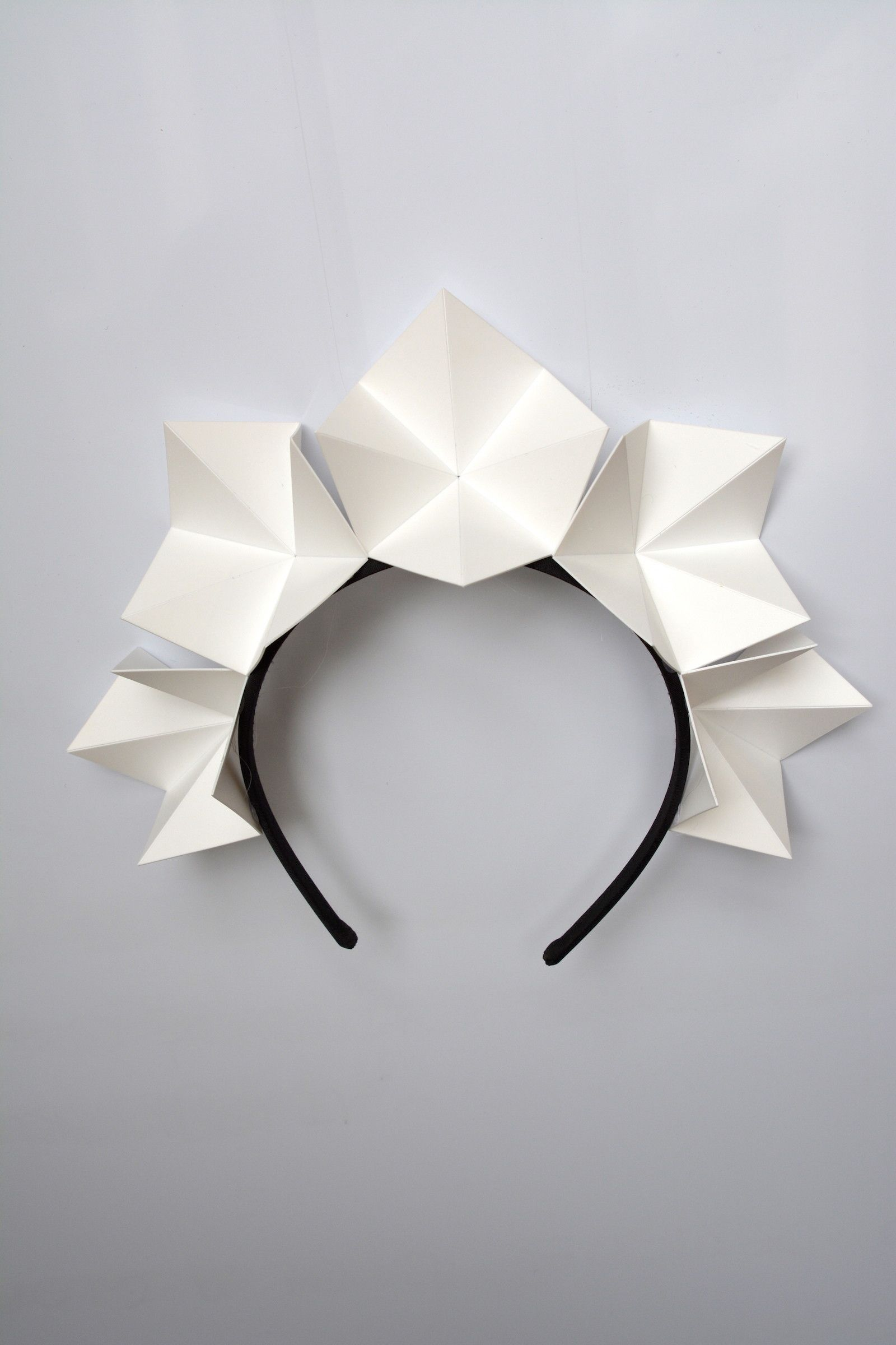 Ice Flower Crown White Origami Crown By Ford Millinery Origami