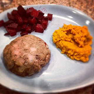 Sooo Paleo: Turkey Burgers w/ Roasted Beets & Carrot Mash