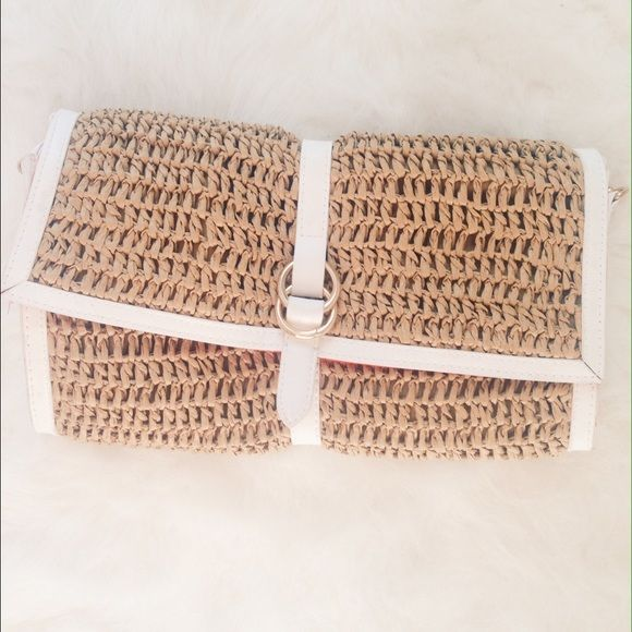 I just discovered this while shopping on Poshmark: adorable woven clutch. Check it out!  Size: OS