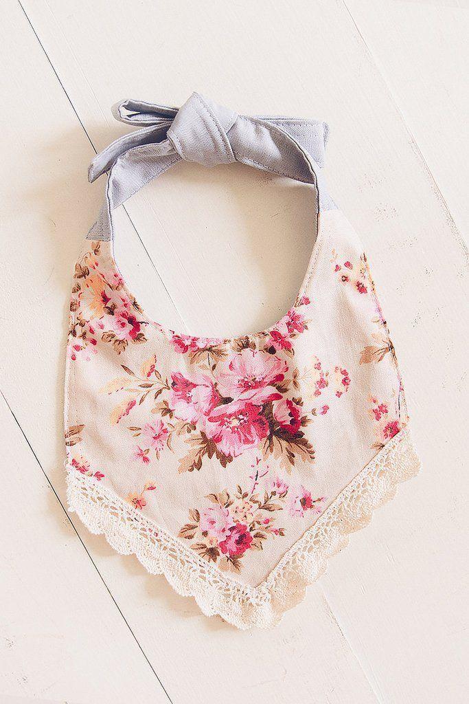 drool bib Vintage floral baby bib bandana bib baby bandana floral baby bib beautiful baby bib girly baby bib