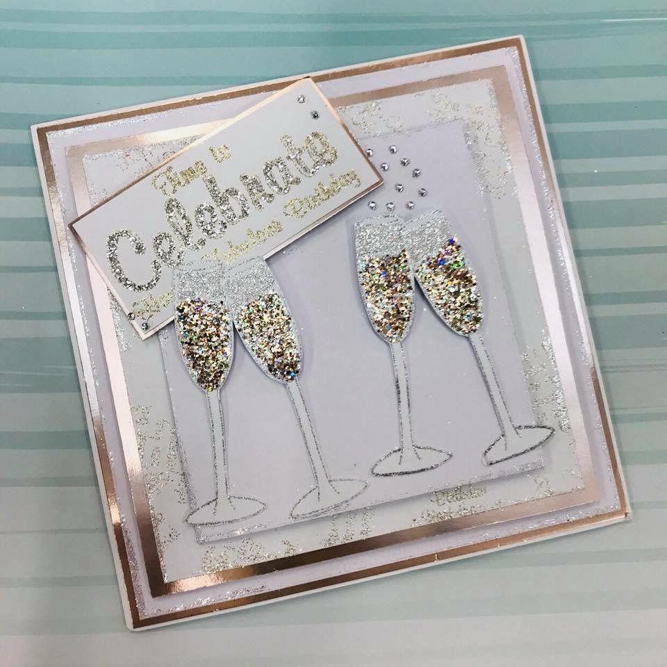 4 x Gold//Silver birdcage card toppers wedding,anniversary,birthday die cut