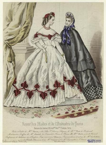 (via Evening and day dress, 1862 | Fashion Plates!)