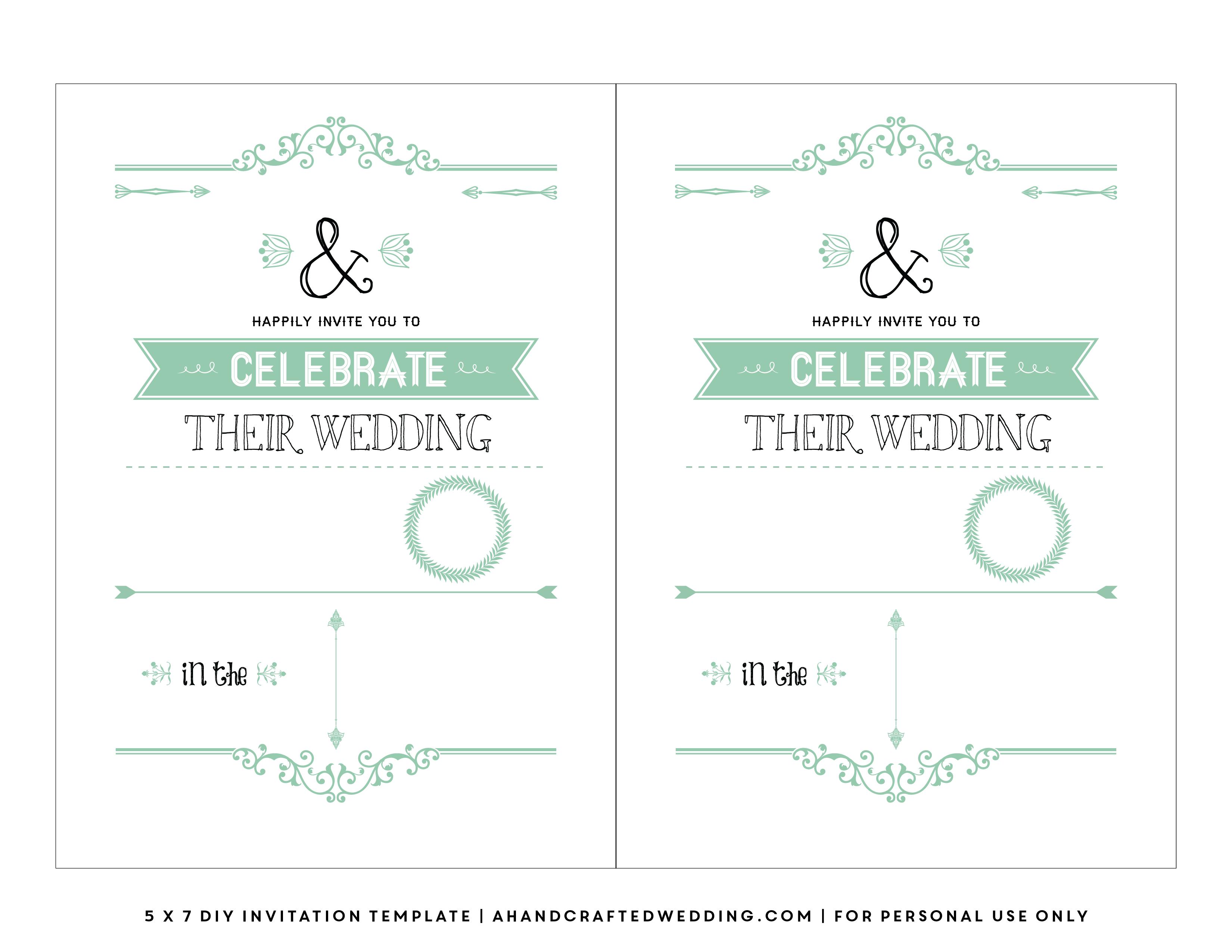 FREE Rustic Wedding Invitation Template Ahandcraftedwedding.com For