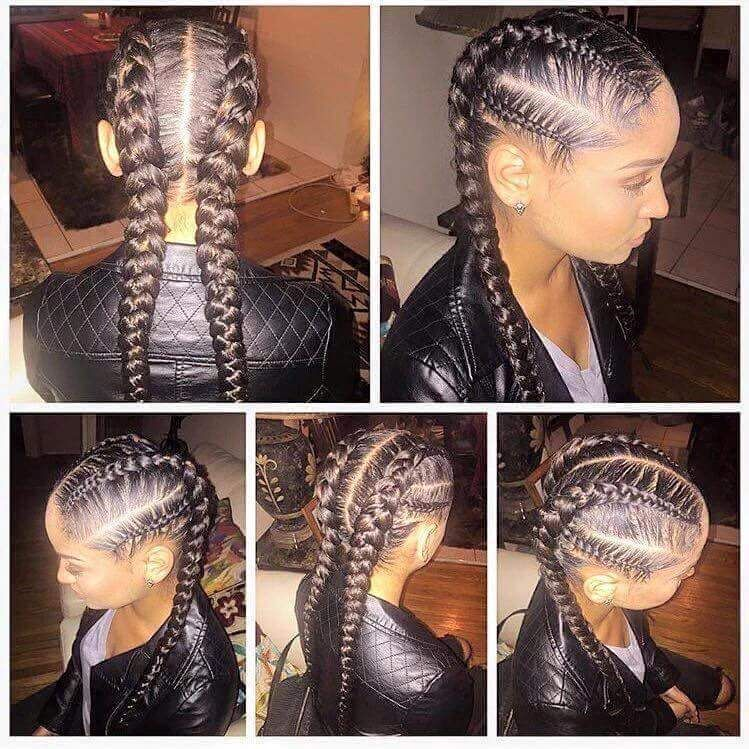 Pigtails Goddess Braids Styles For Black Hair Protectivebraidstyles Protec Braid Recipes Black Goddess Braid Styles Braid Styles Goddess Braids