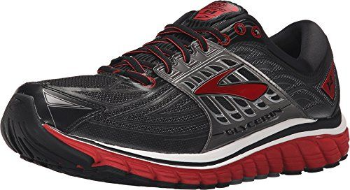 2b06d60e480 Brooks Mens Glycerin 14 BlackHigh Risk RedAnthracite Sneaker 11 EE Wide --  Find out more about the great product at the image link.