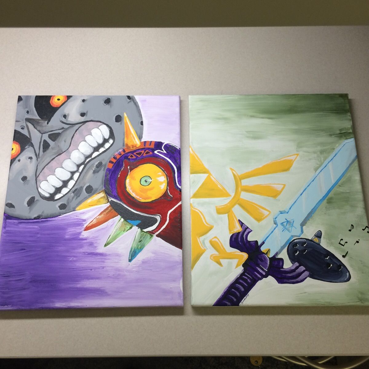 Legend of Zelda painting a friend did for me! Legend of
