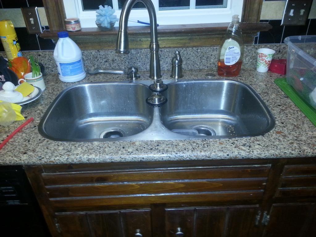 Kitchen: Classic Clogged Kitchen Sink Black Stuff Also Clogged ...