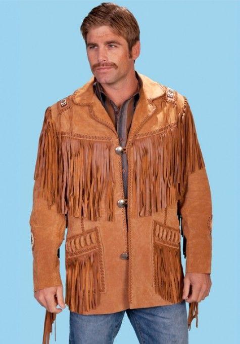 c335c61d6 Fringe Western Shirt Pattern for Men's | Scully Men's Leather Fringe ...