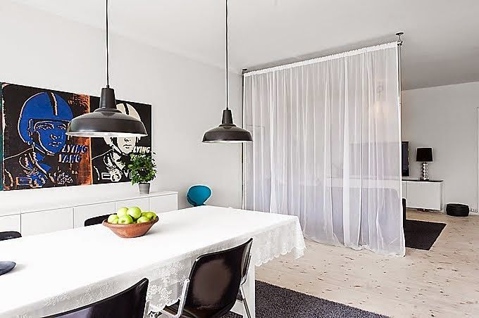 Mobili Loft ~ Cortinas dividindo ambientes lofts interiors and house