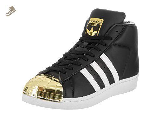 reputable site a4b00 0642e Adidas Women s Pro Model Metal Toe Originals Black Ftwwht Goldmt Casual  Shoe 8.5 Women