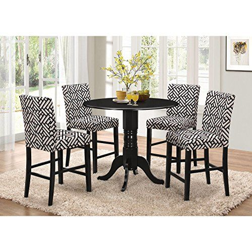 A Line Furniture Jolie Magazine Inspired 5 Piece Round Counter Height  Dining Set
