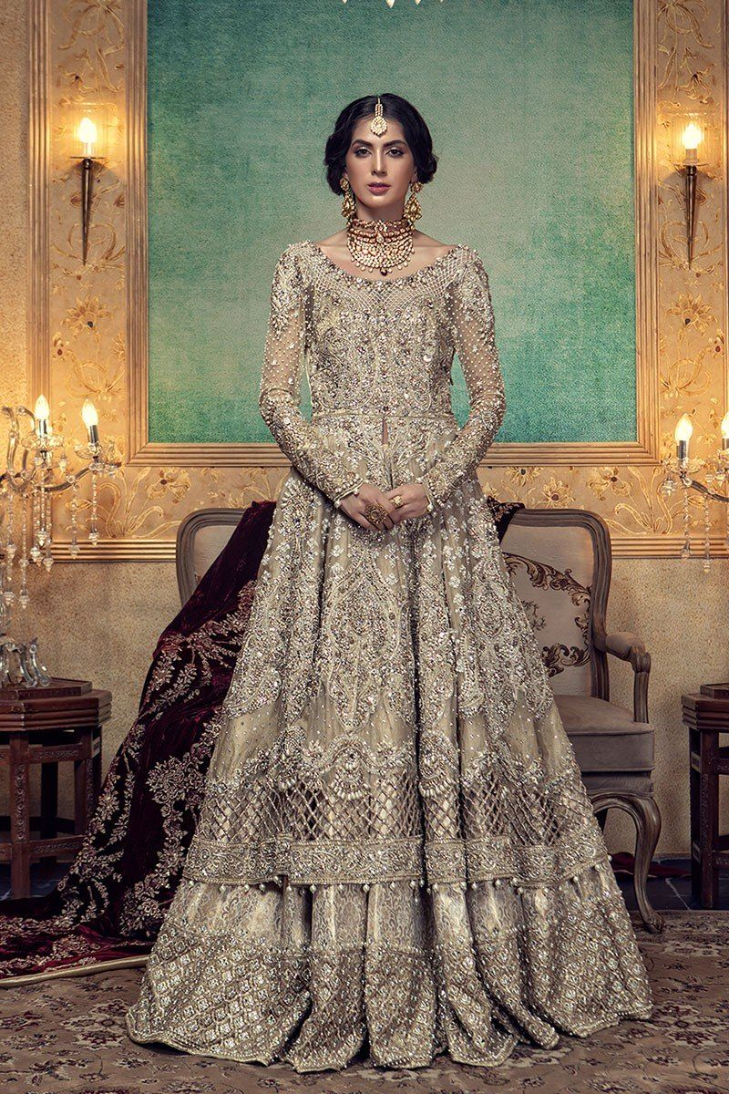 2bad0797e0 Latest Pakistani designer bridal dresses Maria B Brides Collection 2019-20  includes beautiful patterns, designs & styles of Asian & western wedding  dresses.