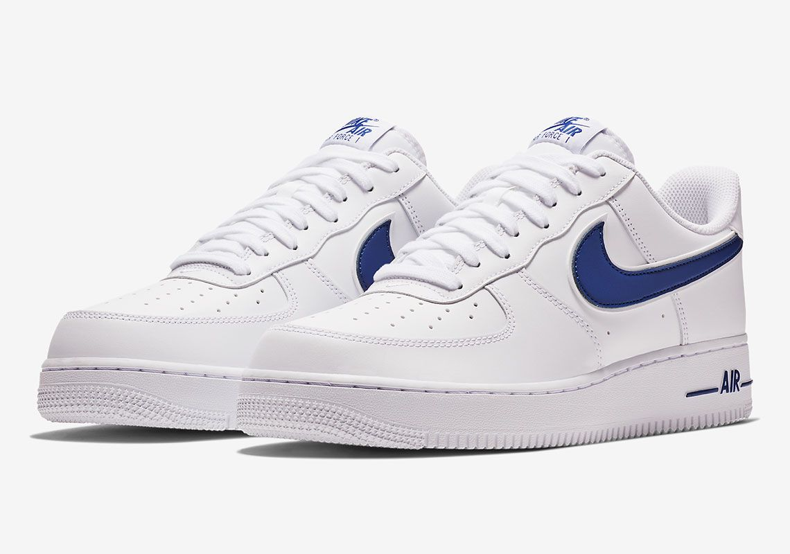 d1daec71616264 Nike Air Force 1 AO2423-103 White Deep Royal Release Info