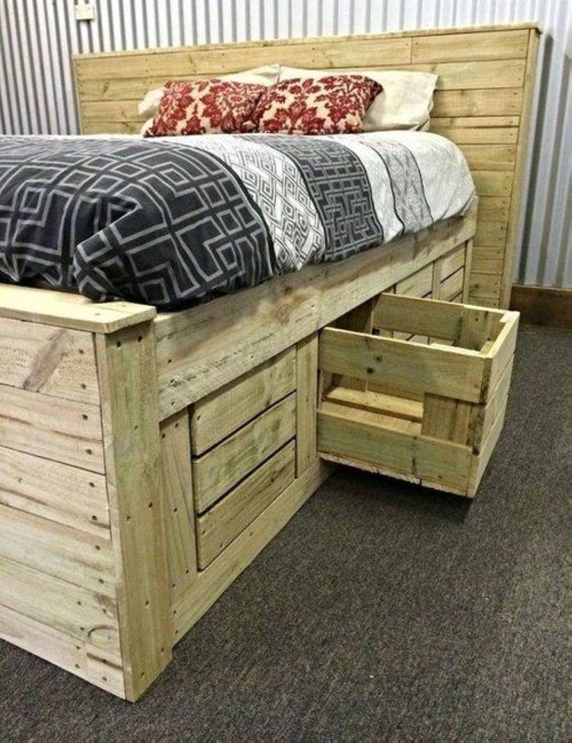 36 DIY Pallet Projects for Bedroom Storage Design | Pallet ...