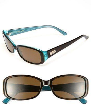 379ce2984cdc Kate Spade New York  paxton  53mm Polarized Sunglasses  katespade  blue   turquoise  teal  sunglasses  fashion