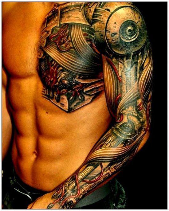 Tattoo Ideas Robot: Biomechanical Hand Free Tattoo Design For Men