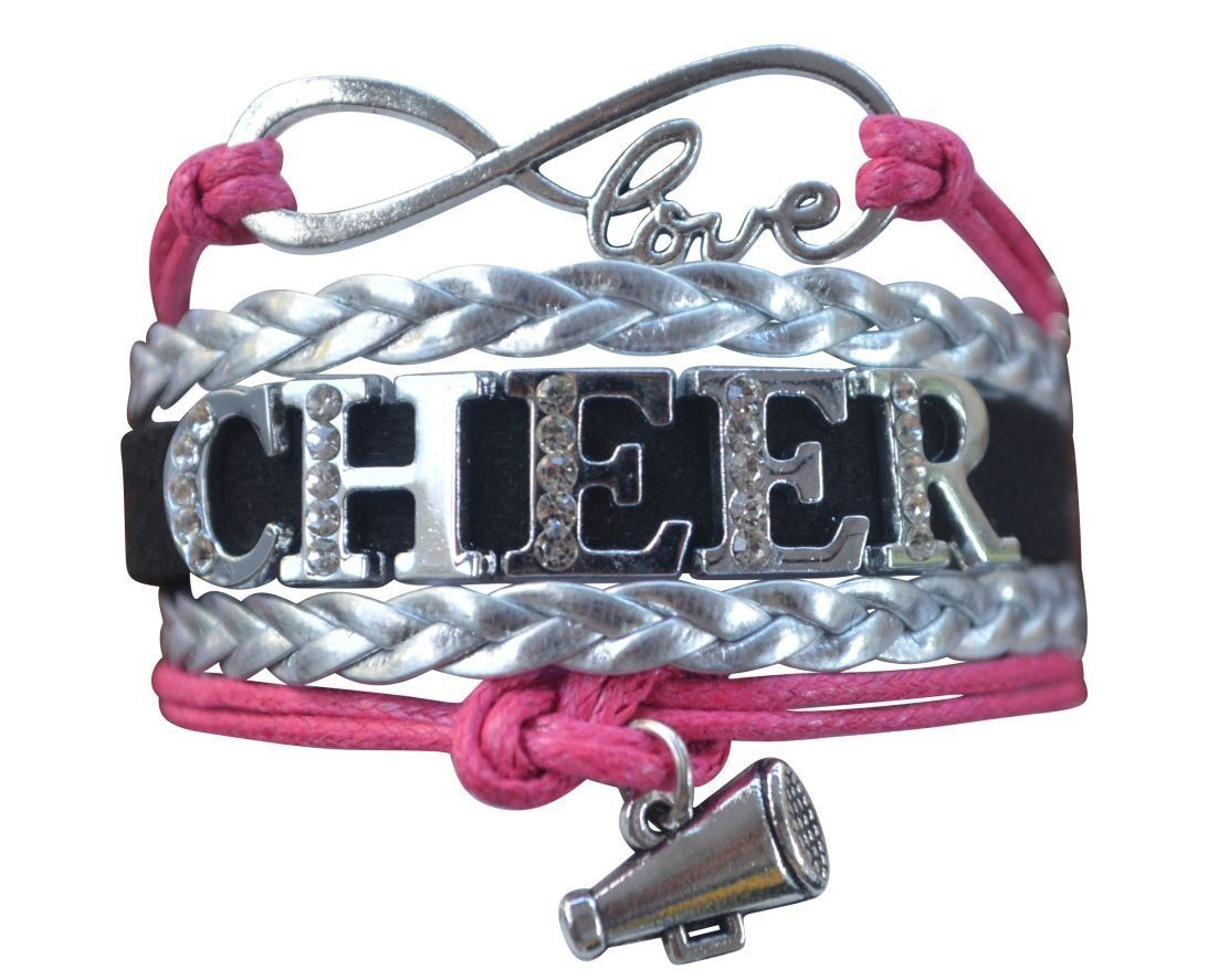 Girls cheer rhinestone bracelet products