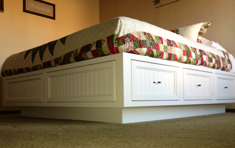 King Size Platform Bed For A Sleep Number Mattress Made