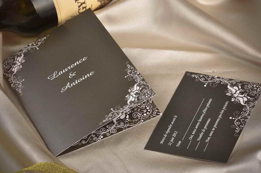 Favori Faire part mariage classique | Idées mariage - Faire-parts, menus  QS48