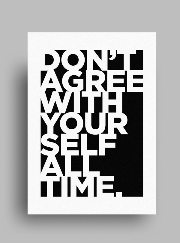 Striking minimalist black white posters featuring gorgeous typography designtaxi com