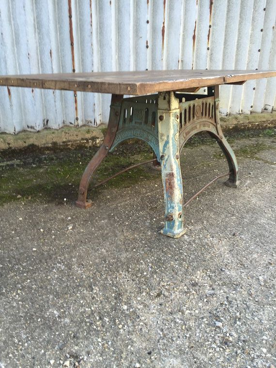 Stunning Industrial Reclaimed Dining Table by AntiquesandMoreLtd