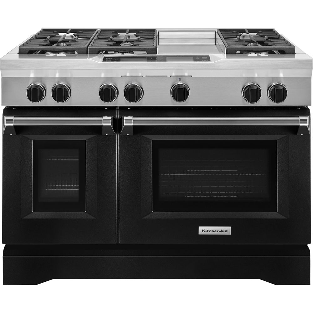 KitchenAid - 6.3 Cu. Ft. Self-Cleaning Freestanding Double ...