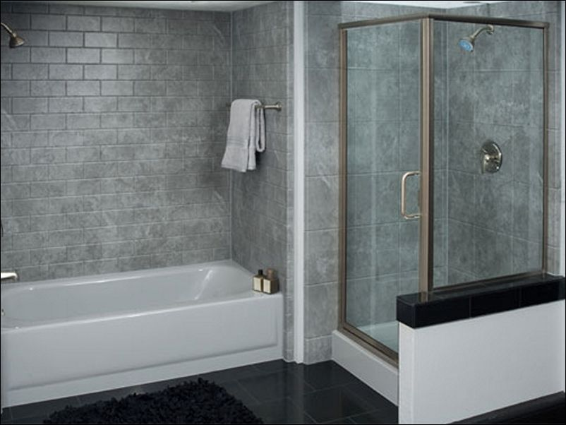 Grey Tile Tub Surround Ideas Bathtub And Surround Home Depot Grey ...