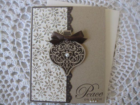 Handmade Greeting Card: Embossed Peace On Earth by ConroysCorner