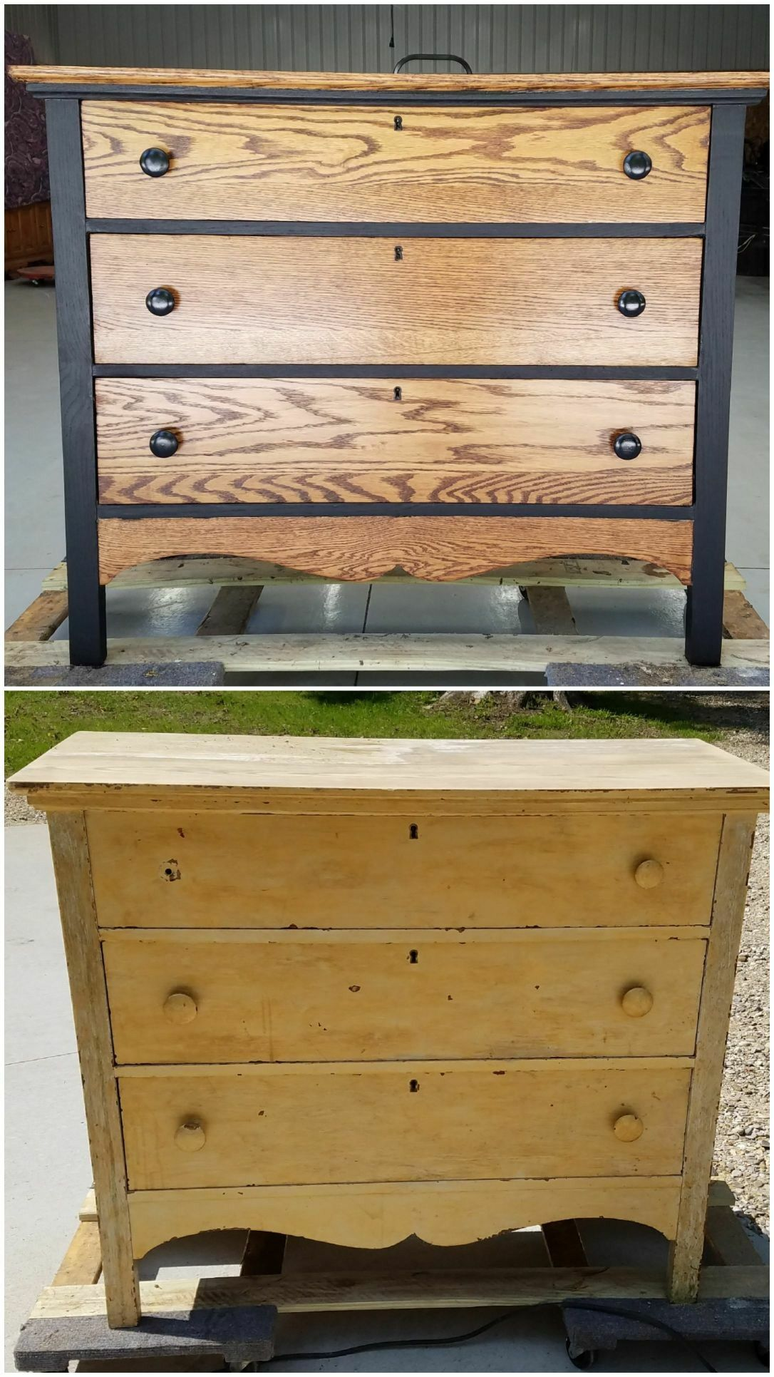 Refinished Antique Dresser From Manistee Mfg Company In Manistee