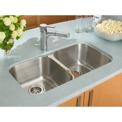 Blanco Homestyle 2 0 Undermount Stainless Steel Sink 400742 Home Depot Cana Sinks Kitchen