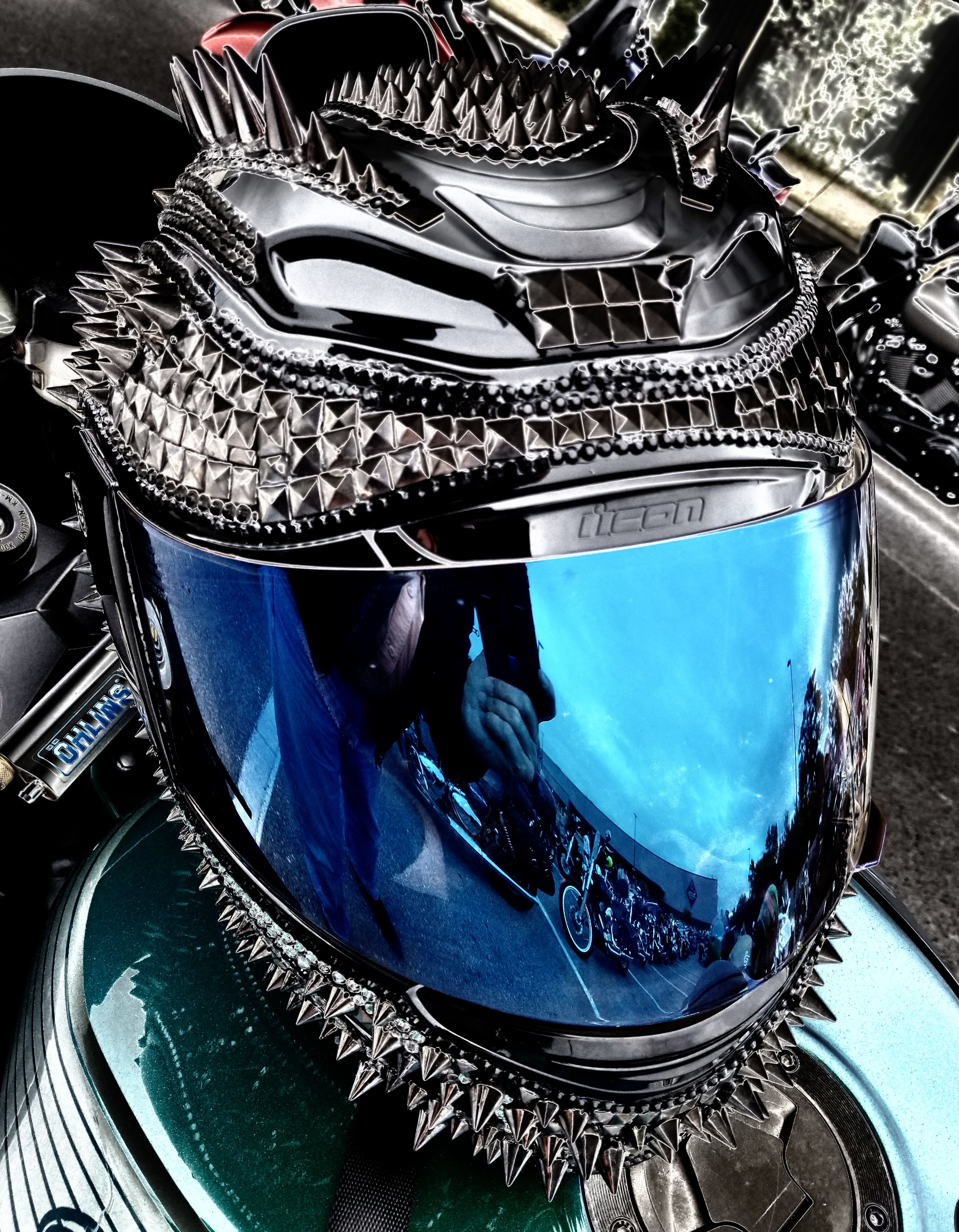 Motorcycle helmet Custom motorcycle helmets, Street bike