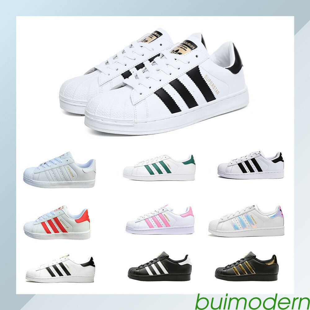 Adidas Originals Superstar Klassiker Sneaker Turnschuhe Schwarz Damen Männer