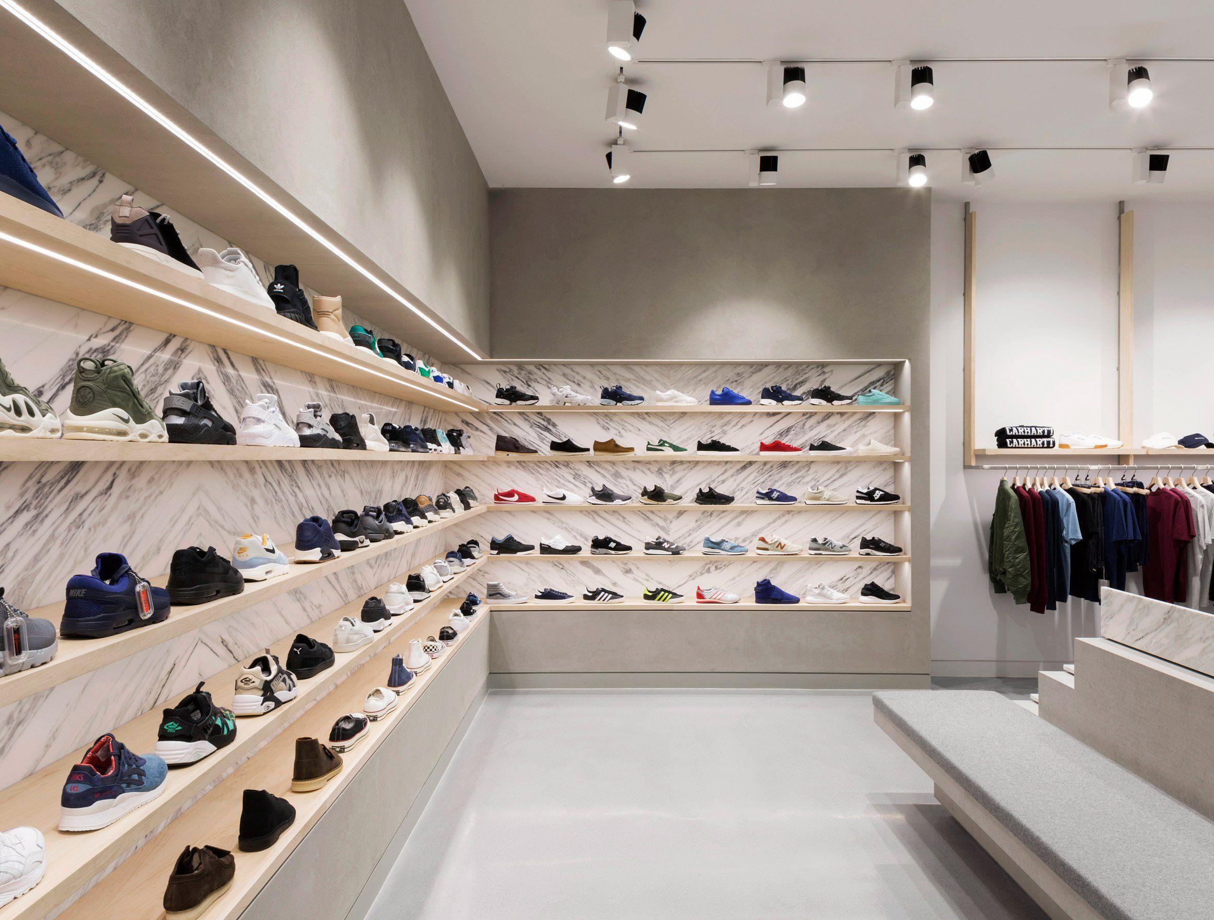 END Clothing by Brinkworth | 인테리어, 신발 가게, 인테리어