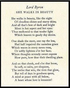 She Walks In Beauty / Night