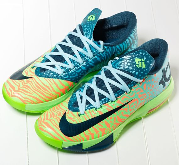 New Multi-Color / Green Glow-Black Nike KD VI ILLUSION All Star Shoes store  sell the cheap Nike KD VI online, it is high quality Nike KD VI sneakers  and we ...