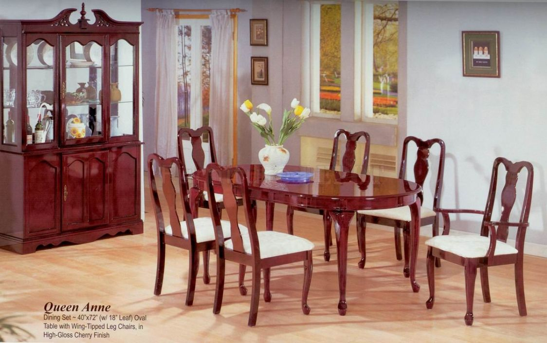 Queen Anne Cherry Dining Room Set  Best Way To Paint Wood Fascinating Cherry Dining Room Chairs Sale Inspiration Design