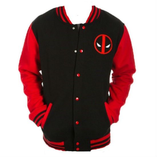 2b4639e444 Deadpool Letterman Jacket | N E R D F A S H I O N | Marvel clothes ...