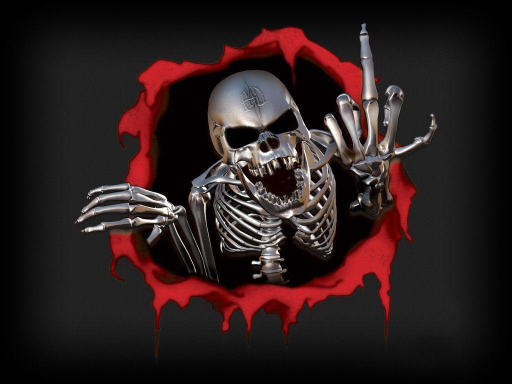 Horror Skull Artwork Skull Wallpaper Skull