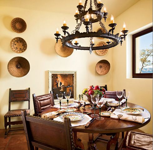 Spanish Room Designs | Spanish Dining Room Design Ideas with Antique ...