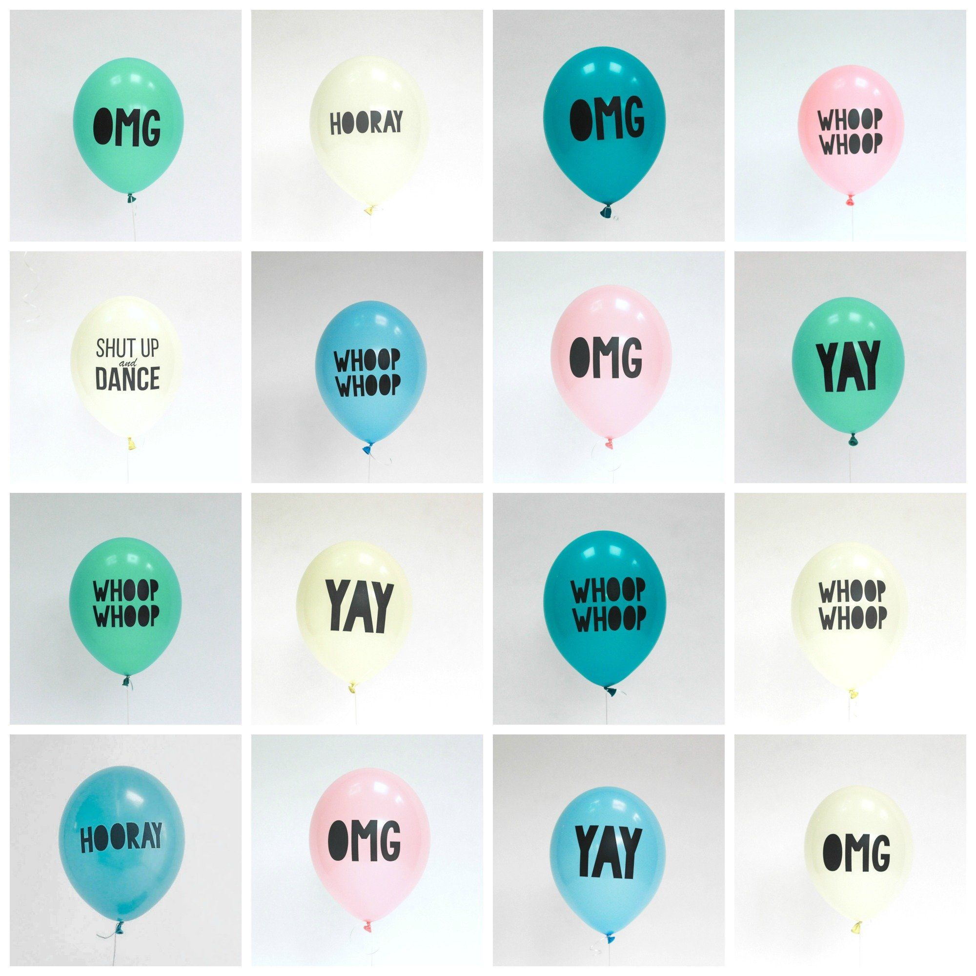 Say It With The Coolest Slogan Balloons! Happy birthday