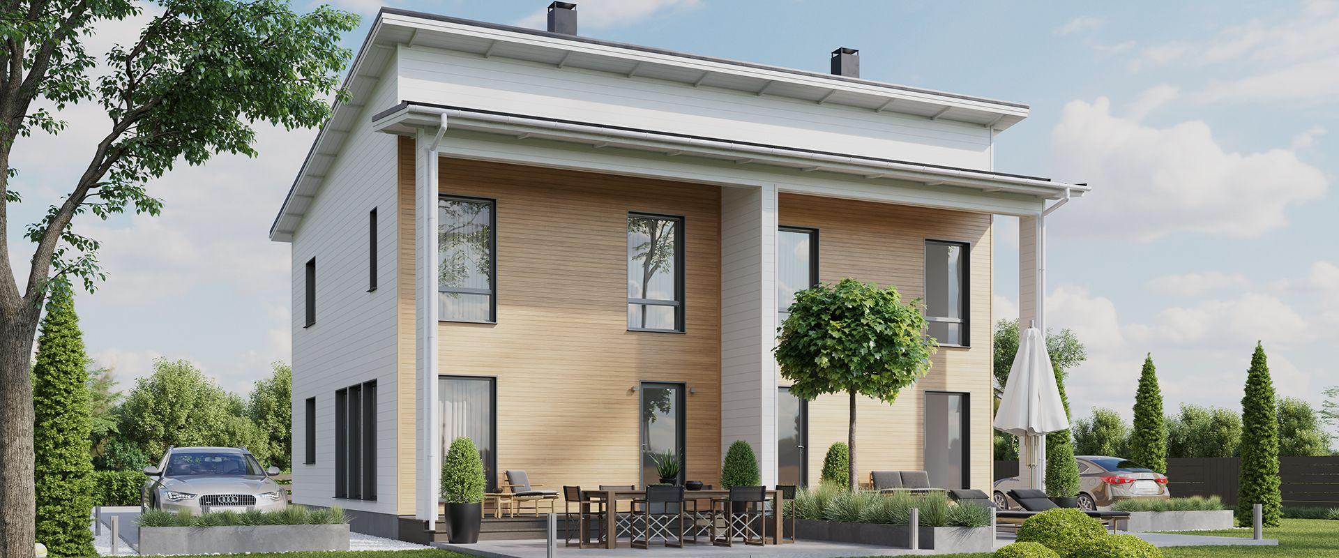 Deko 242 121 Avara Dekotalo Talopaketit Ja Valmistalot Avaimet Kateen In 2020 Wooden House Outdoor Decor