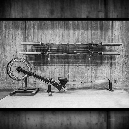 Classic Gym Equipment Vintage Gym Equipment Concept 2 Rower Old School Interieur